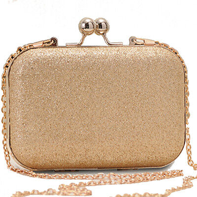 Damentasche Gold Abendtasche Clutch Tasche Umhängetasche Crossbody bag Big Mode