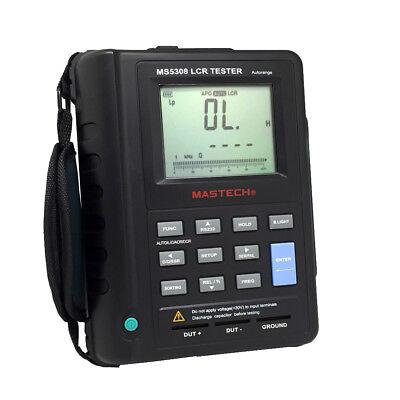 MASTECH MS5308 Auto Ranging Handheld Portable LCR Meter 100K Hz -