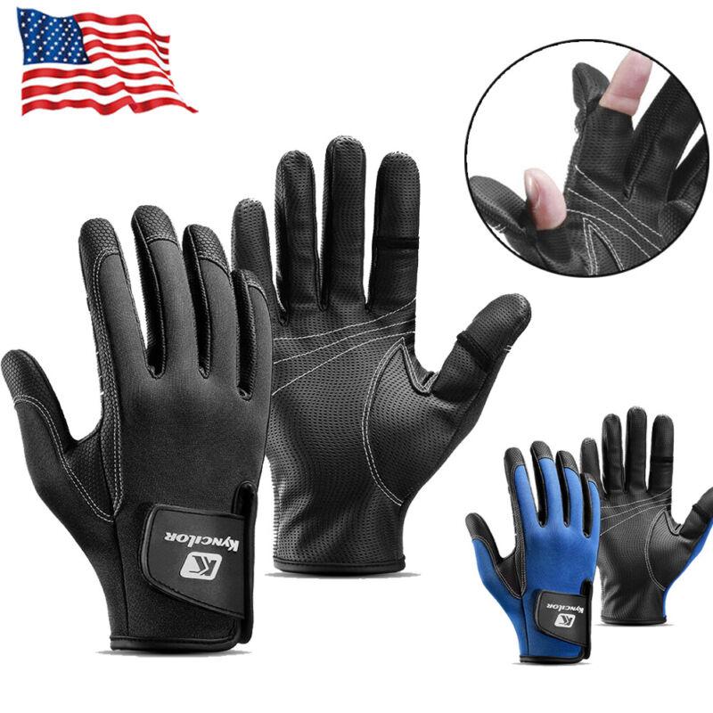 2 Fingers Cut Fishing Gloves Sun UPF50+ UV Protection Gloves Outdoor Men Women