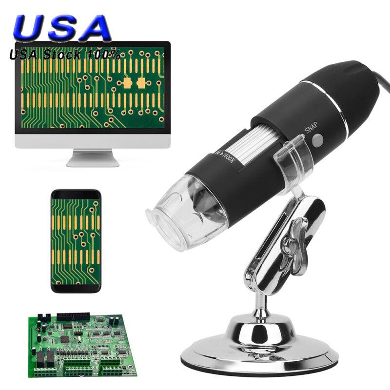 1600X 8 LED Digital Microscope Camera Handheld USB Magnification Endoscope