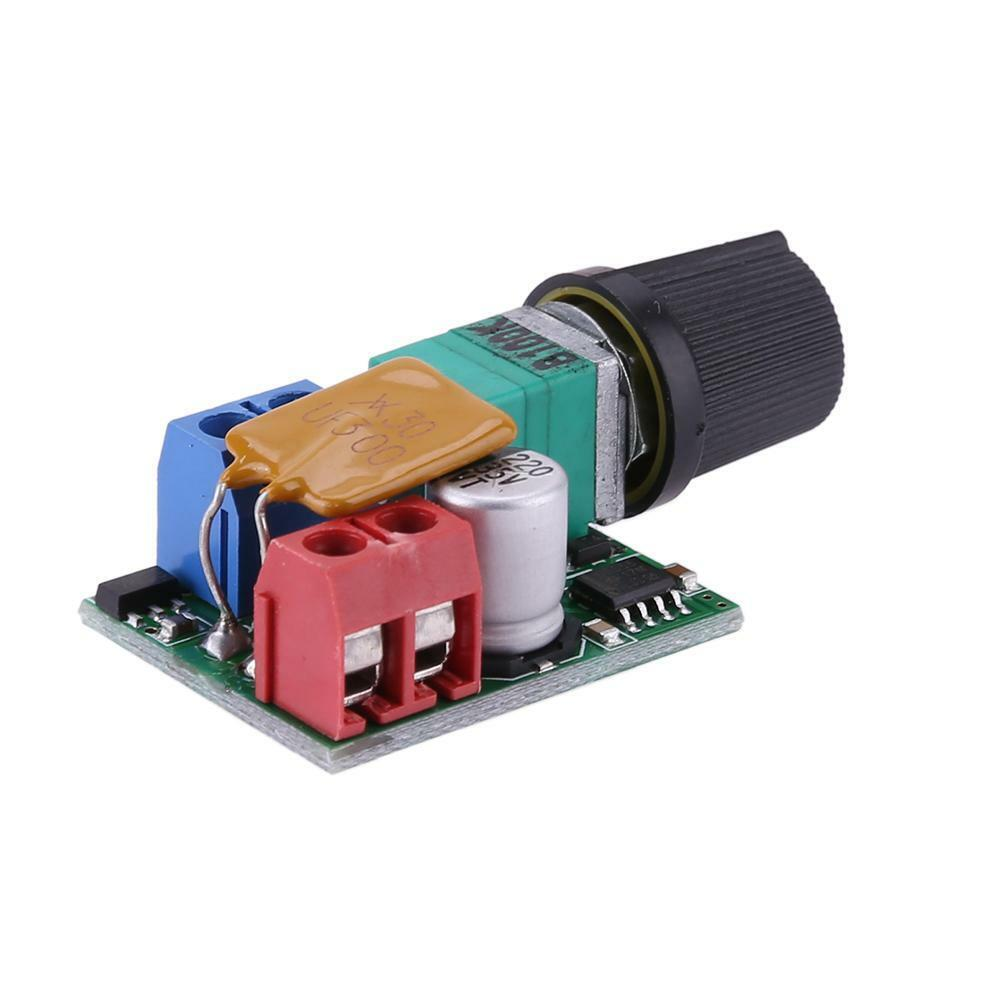 2x Mini DC 5A Motor PWM Speed Controller 3V-35V Speed Control Switch LED Dimmer