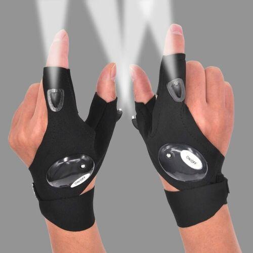 US Store*1 pair Led Flashlight Gloves Car Outdoor Fishing Hiking Survival Night