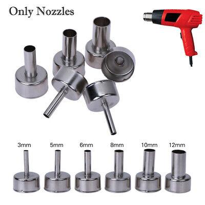 6pcsset Heat Gun Nozzles Heat Resistant For Hot Air Soldering Station 3-12mm