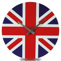 Union Jack Glass Wall Clock Round - out of the blue - ebay.co.uk