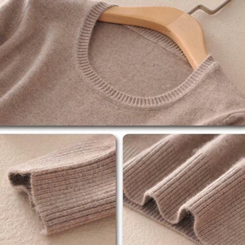 Dünner gestrickter Cashmere-Pullover mit Rundhalsausschnitt für Damen Weiche