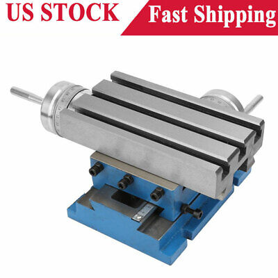 Milling Machine Compound Work Table Cross Slide Bench Drill Press Vise 4x7.3inch