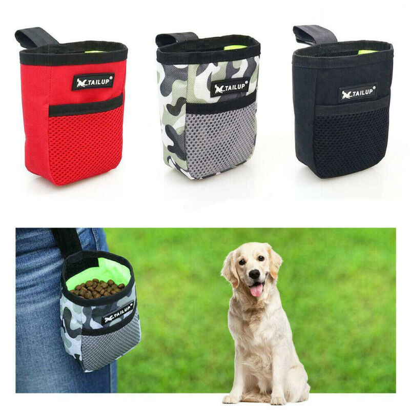 Travel Pet Dog Treat Bag Obedience Training Food Snack Pouch Puppy Feed Belt Bag