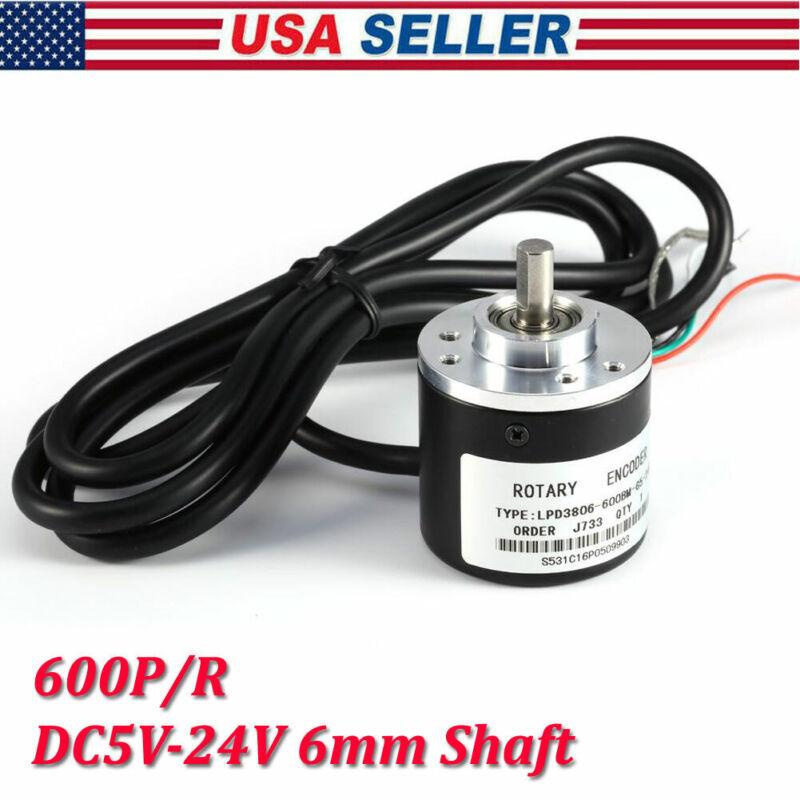 Photoelectric Incremental Encoder 600P/R DC5-24V AB 2-Phases 6mm Shaft