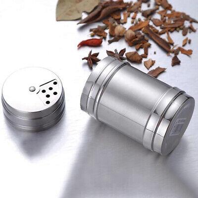 Stainless Steel Seasoning Spice Shaker Bottle Jar BBQ Salt Pepper Condiment Box ()