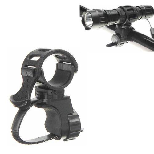Portable 360° Rotate Bicycle Handlebar Light Bracket Bike Mount Lamp Holder Clip