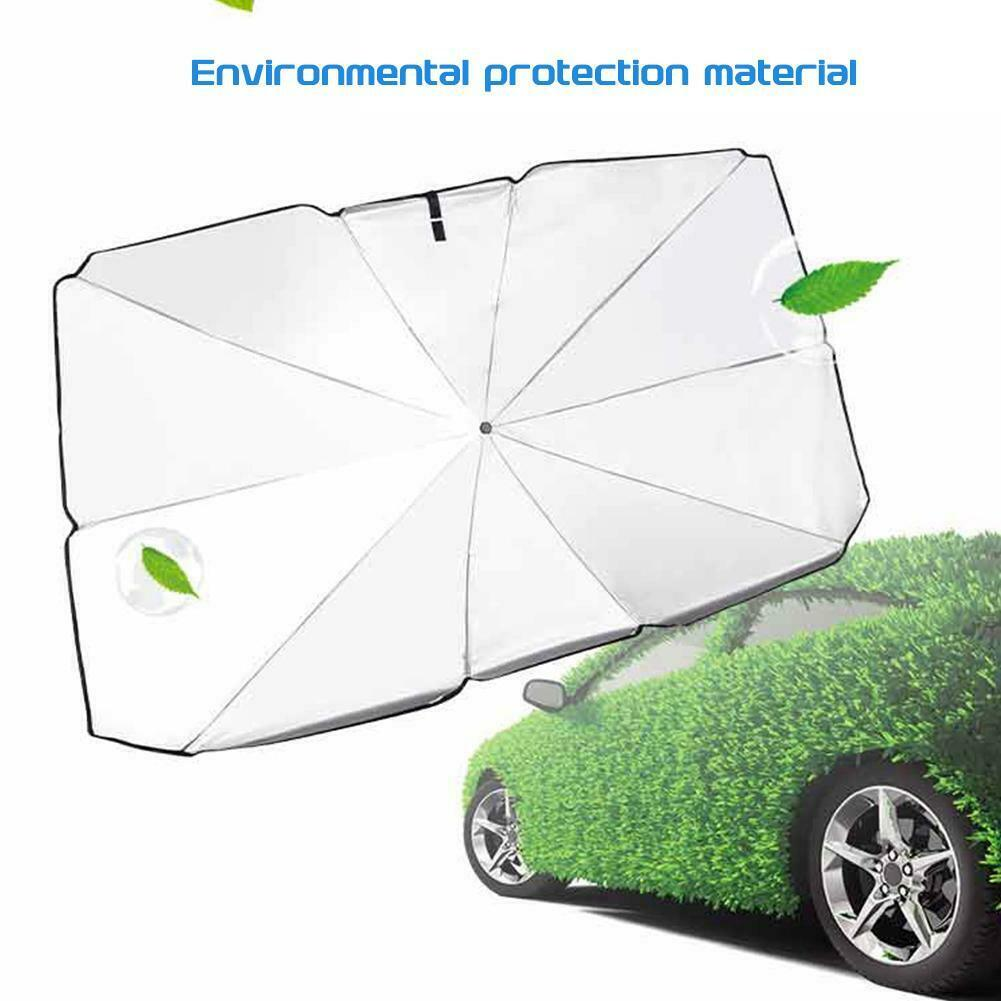 xiaohuhu Car Front Windshield Sun Shade Multi Use Umbrella Auto Heat Insulation Silver Coating Heat Reflector Window Privacy Visor UV Protection Cooling Sunshade Blocking Screen Cover Telescopic Rod