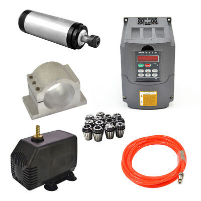 110v 2.2kw Water Cooling Spindle Motorhy Inverterpumppipeclampcollet Set