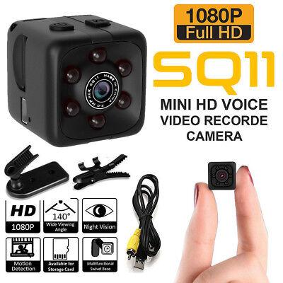 - US SQ11 Spy Hidden DV DVR Camera Full HD 1080P Mini Car Dash Cam IR Night Vision