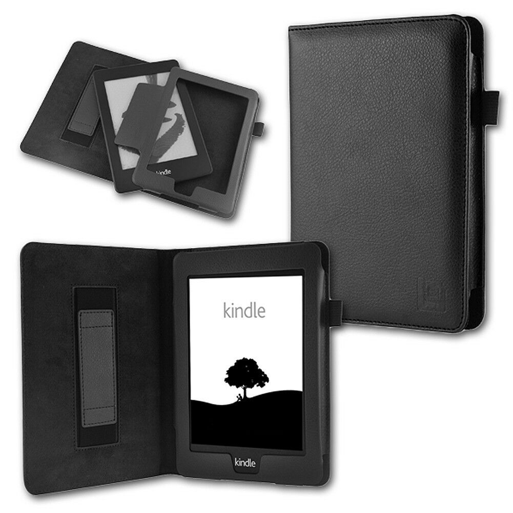 Tasche für Amazon Kindle Paperwhite Hülle Wake/Sleep Cover Ebook Case Schwarz