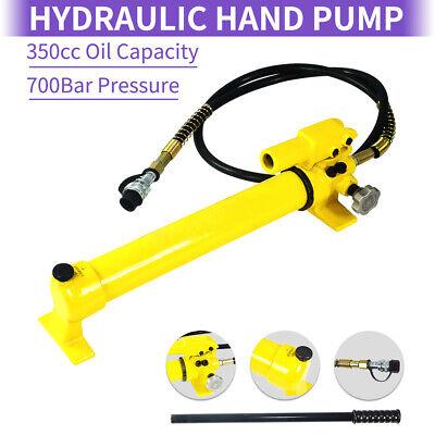2 Speed Hydraulic Hand Pump Heavy Duty 700 Bar 10000 Psi Hand Pump Hose