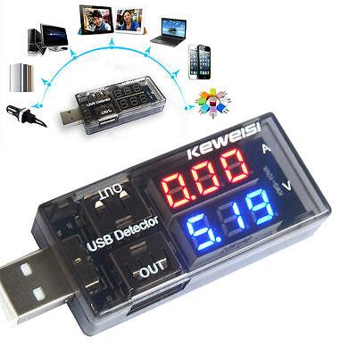 USB Charger Current Voltage Charging Detector Battery Voltmeter Ammeter Test