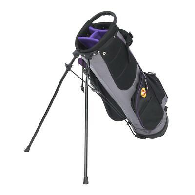 NEW Portable Golfer Golf Stand Cart Bag Lightweight 4 Way Divider Large Capacity