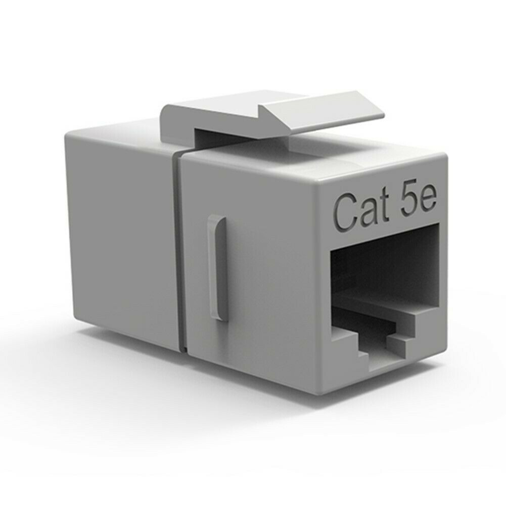 5 Pieces RJ45 Female to Female with Keystone Latch Cat5e Inline Coupler