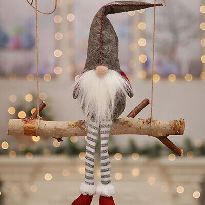 Exquisite Swedish Lucky Gnome Tomte Santa Doll Christmas Party Ornament Decor