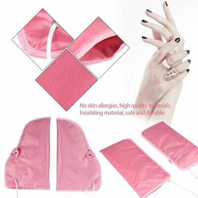 Manicure Mitts - Electric Nail SPA Manicure Gloves Heated Mitts Massage Infrared Treatment Warmer