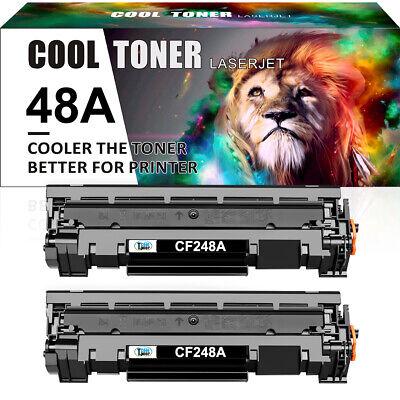 2× Toner Compatible for HP 48A CF248A LaserJet Pro M15w M16a MFP M28w M29w M28a