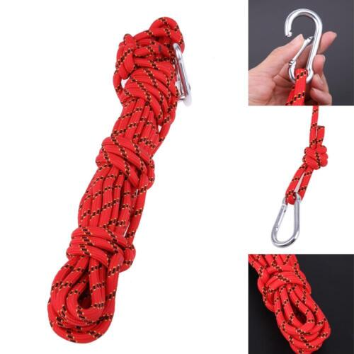10m Safety Paracord Rock Climbing Rope Hiking Accessories Cord 3KN Survival Tool