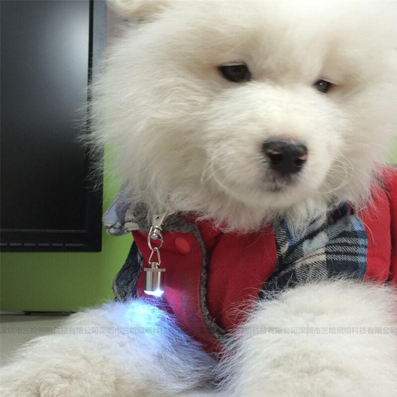 Waterproof LED Flash Pendant Light Pet  Dog Cat Safety Blink