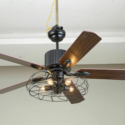 """52/"""" Deckenventilator Licht Fan E27 Leuchte Beleuchtung Dimmbar Fernbedienung DHL"""