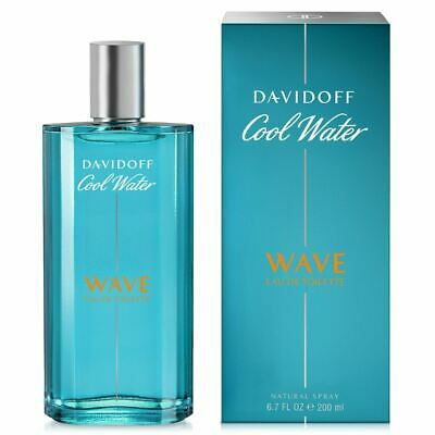 DAVIDOFF COOL WATER WAVE FOR MEN 200ML EAU DE TOILETTE SPRAY BRAND NEW & BOXED