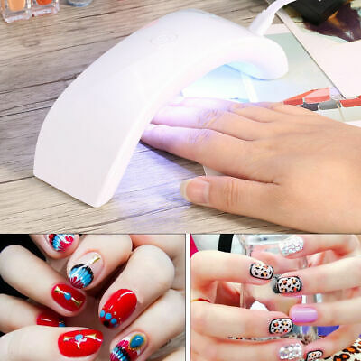 Portable 12W LED CCFL Nail USB Dryer Curing Lamp Machine UV
