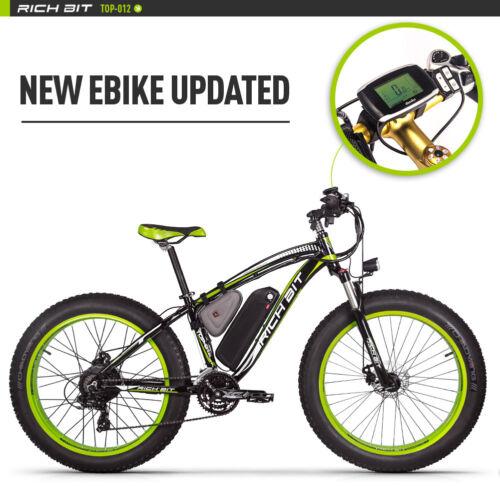 1000W Elektrofahrrad Fatbike E-Bike 48V Akku 17AH Pedalunterstützung + Gashebel