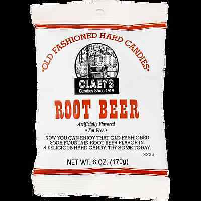 Claey's ROOT BEER Old Fashioned Hard Candy (24)  6 OZ BAGS - FRESH & BEST PRICE