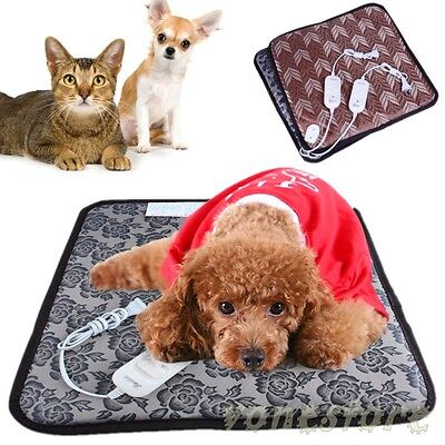 Waterproof Pet Warm Electric Heat Heated Heating Heater Pad Mat Blanket Bed Dog