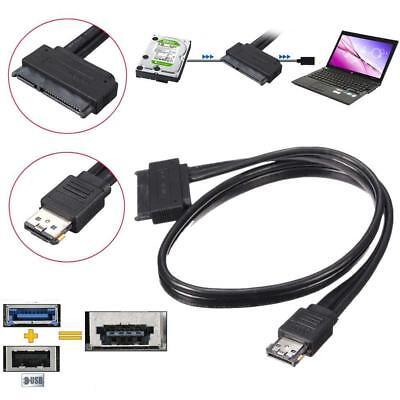 HOT 12V 5V Dual Power eSATA USB Combo to 2.5