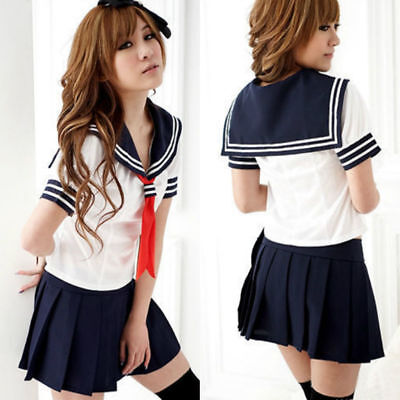 Ladies Cosplay Japanese School Girl Students Sailor Uniform Anime Costume](Anime Girl Costume)