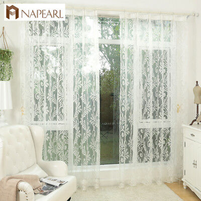 NAPEARL 1 Panel European New Year Decorative Bedroom Curtains Cheap White Drapes - Cheap New Years Decorations