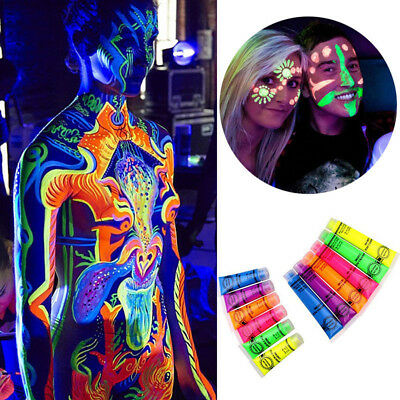 Rave Clubbing Festival in The Dark Neon Make Up Party Face Body Paint Glow CA