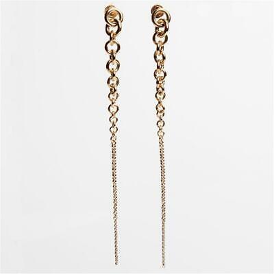 Michael Kors Gold Tone Graduated Link Linear Drop Earrings