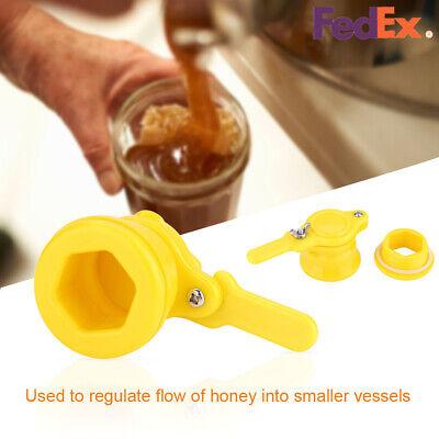 Plastic Bee Beekeeping Honey Extractor Tap Gate Valve Bottling Equipment Tool Us