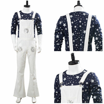 Rocket Man Halloween Costume (Rocketman Elton John Cosplay Costume Complete Outfit Halloween White Braces)