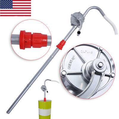 55 Gallon Rotary Hand Crank Oil Barrel Drum Pump Pumping Petrol Diesel Fuel Us
