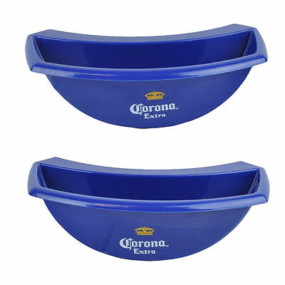 NEW RARE 2-Pc Corona Extra Bucket Caddy Lime Lemon Slice Holder Beer Party Bar - Beer Buckets
