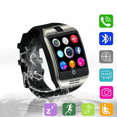 Q18 Touch Screen Smart Watch Wrist Bluetooth Sim Card Camera For Android Ios Us