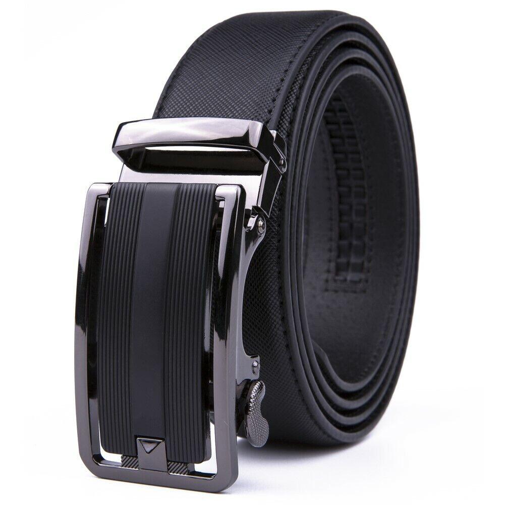 Mens Belts Leather Dress Belts Ratchet Belt Automatic Buckle Size Customized Belts