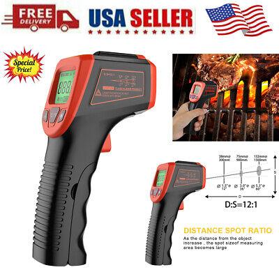 Infrared Thermometer Lcd Laser Temperature Gun Ir Temp Meter Non-contact Digital