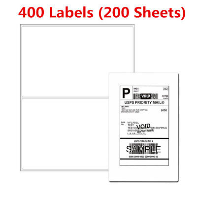 Labels 8.5x5.5 - 400 Shipping Labels Half-sheet Self-adhesive Round Corner