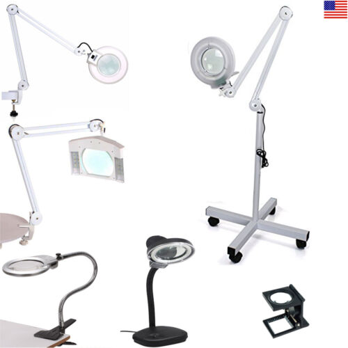 Professional Magnifying Magnifier Lamp Light Free Standing/C