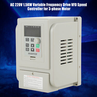 1.5kw 3hp Vfd Single Phase Speed Variable Frequency Drive Inverter 220v 8a New
