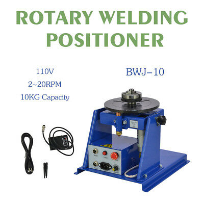 110v New Rotary Welding Positioner Turntable Table Mini 2.5 3 Jaw Lathe Chuck