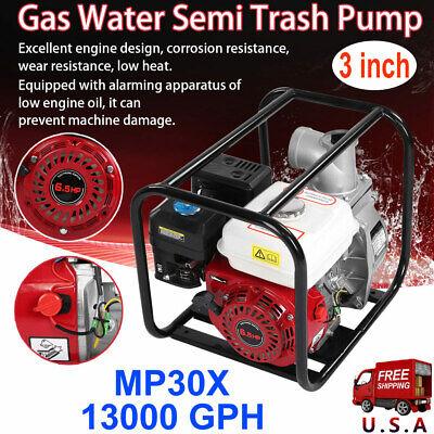 3inch 6.5hp Petrol High Flow Gasoline Water Transfer Pump Fire Garden Irrigation
